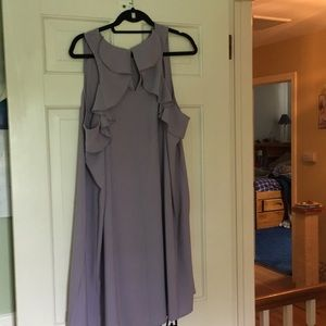 NWT Sweet Lavender shift dress with back ruffle